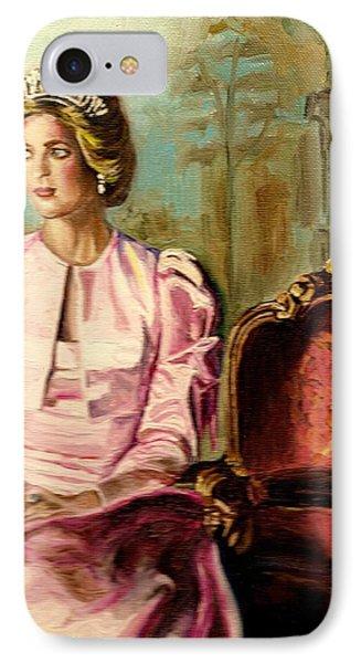 Princess Diana The Peoples Princess IPhone Case by Carole Spandau