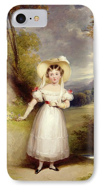 Princess Victoria Aged Nine IPhone Case by Stephen Catterson the Elder Smith