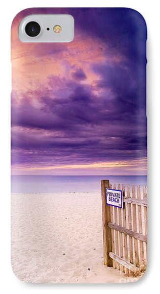 Private Beach Cape Cod Phone Case by Matt Suess