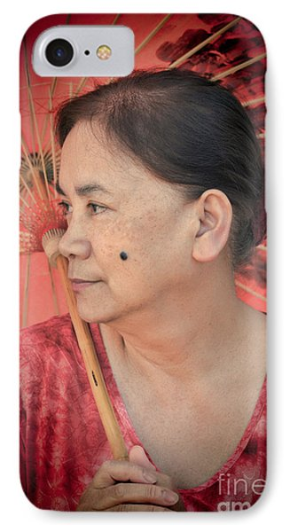 Profile Portrait Of A Freckle Faced Filipina With A Mole On Her Cheek  IPhone Case by Jim Fitzpatrick