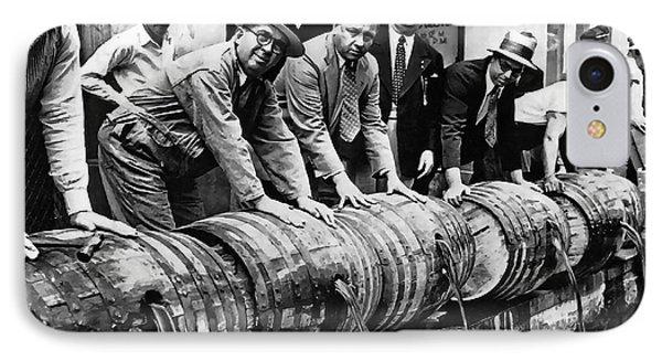 Prohibition Feds And Crew Dump Liquor IPhone Case by Daniel Hagerman