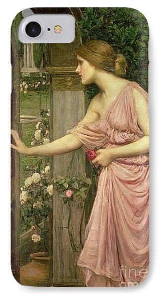 Psyche Entering Cupid's Garden IPhone Case by John William Waterhouse