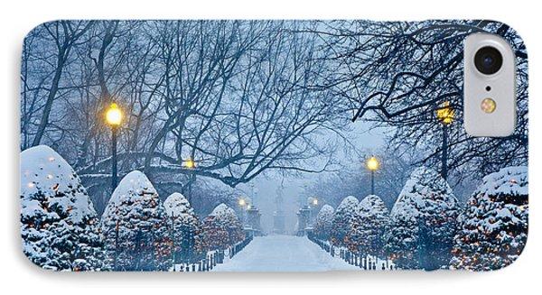 Public Garden Walk IPhone Case by Susan Cole Kelly