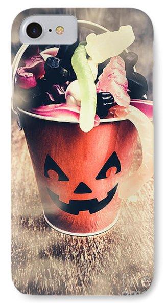 Pumpkin Head In A Misty Halloween Scene IPhone Case by Jorgo Photography - Wall Art Gallery