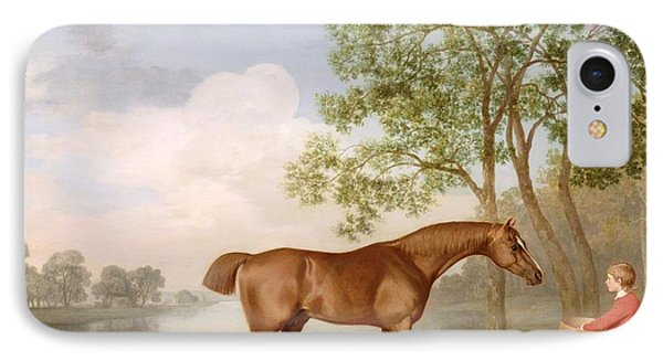 Pumpkin With A Stable-lad IPhone Case by George Stubbs