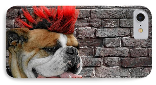 Punk Bully IPhone Case by Christine Till