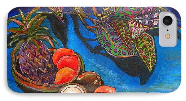 Purple Pineapple IPhone Case by Patti Schermerhorn