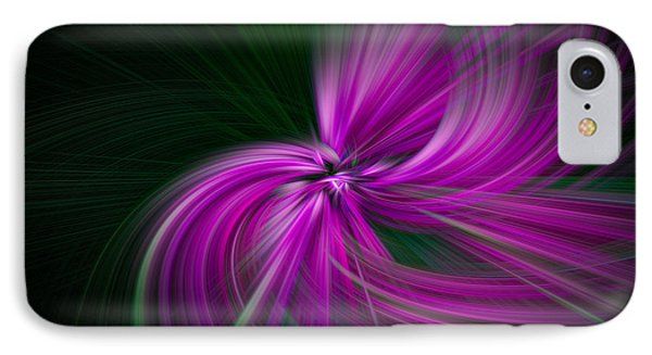 Purple Twirls IPhone Case by Noah Katz