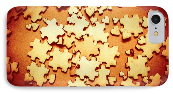 Puzzle Of Love IPhone Case by Jorgo Photography - Wall Art Gallery