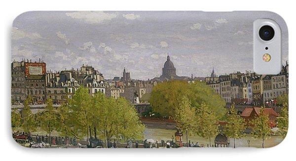 Quai Du Louvre In Paris IPhone Case by Claude Monet