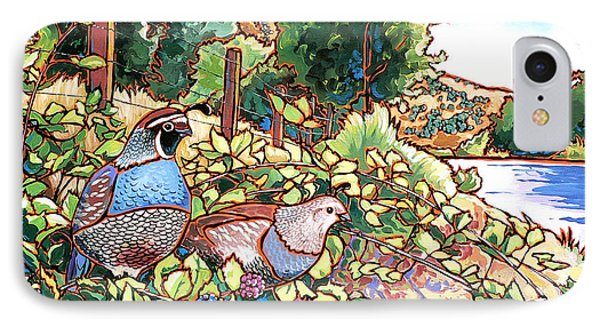 Quails And Blackberries Phone Case by Nadi Spencer