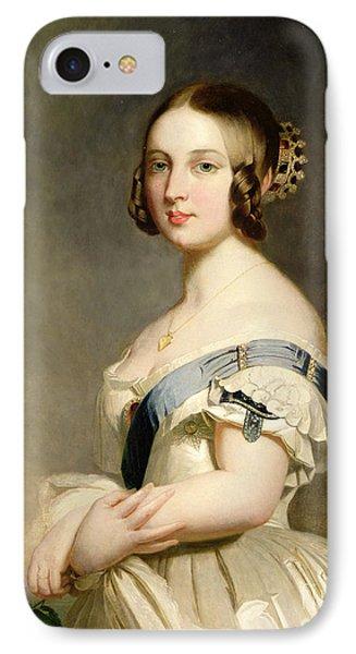 Queen Victoria IPhone Case by Franz Xavier Winterhalter