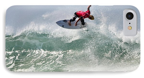 IPhone Case featuring the photograph Quiksilver Pro France Iv by Thierry Bouriat