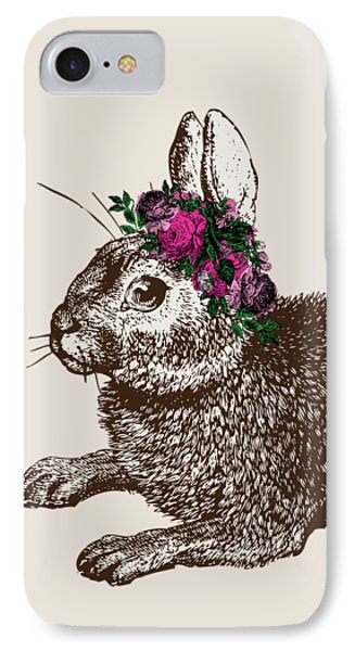 Rabbit And Roses IPhone 7 Case by Eclectic at HeART
