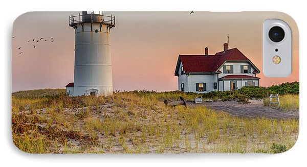 Race Point Light Cape Cod Square IPhone Case by Bill Wakeley