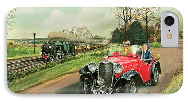 Racing The Train IPhone Case by Richard Wheatland