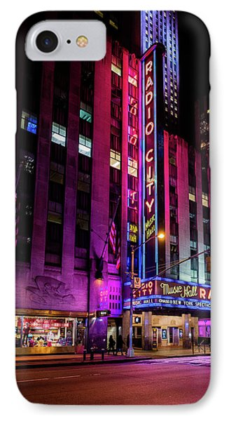IPhone Case featuring the photograph Radio City Music Hall by M G Whittingham