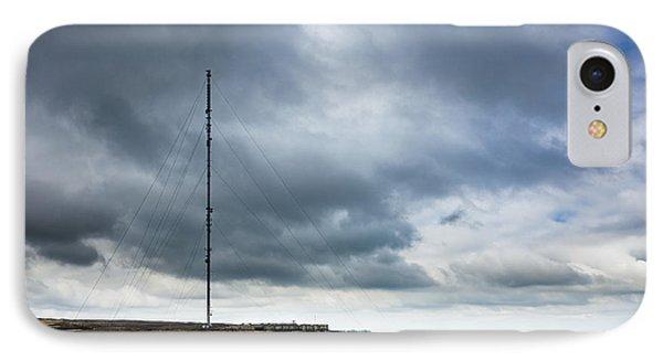 Radio Tower In Field Phone Case by Jon Boyes