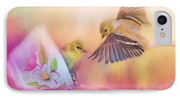 Raiding The Teacup - Songbird Art IPhone 7 Case by Jai Johnson