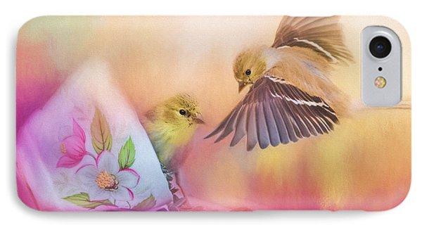 Raiding The Teacup - Songbird Art IPhone Case by Jai Johnson