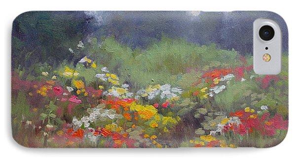 Rain Flowers IPhone Case by Lori  McNee