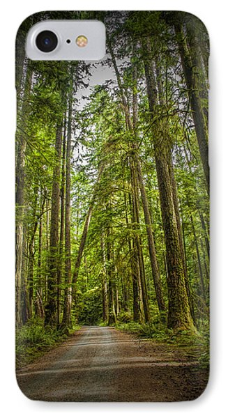 Rain Forest Dirt Road IPhone Case by Randall Nyhof
