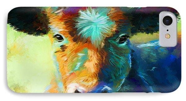 Rainbow Calf IPhone Case by Michelle Wrighton