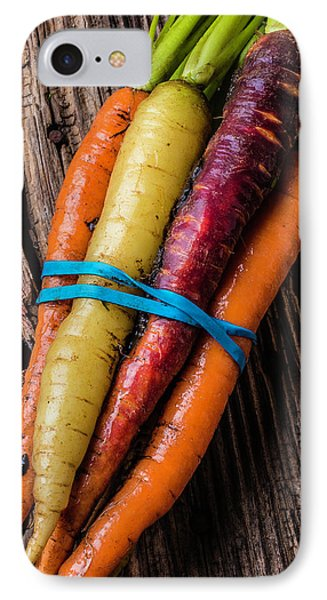 Rainbow Carrots IPhone 7 Case by Garry Gay