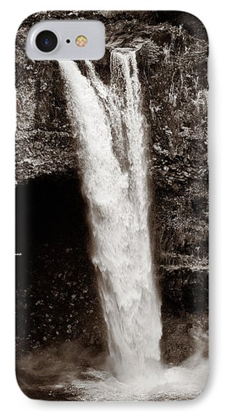 Rainbow Falls 2 - Sepia Phone Case by Christopher Holmes
