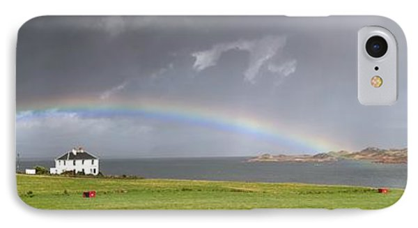 Rainbow, Island Of Iona, Scotland Phone Case by John Short