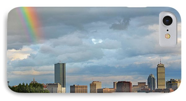 Rainbow Over Boston Ma IPhone Case by Toby McGuire