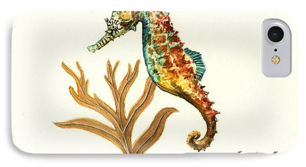 Rainbow Seahorse IPhone 7 Case by Juan Bosco