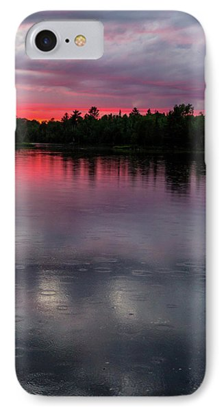 Raindrops At Sunset IPhone Case by Mary Amerman