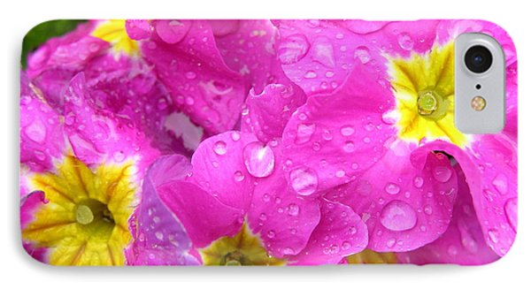 Raindrops On Pink Flowers 2 Phone Case by Carol Groenen