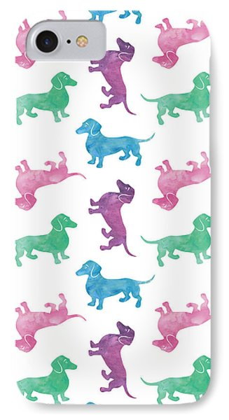 Raining Dachshunds IPhone Case by Antique Images