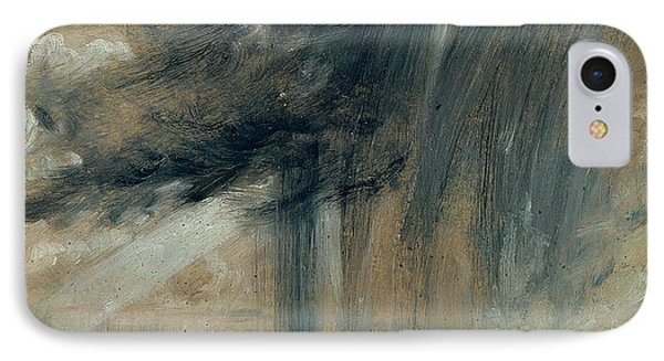 Rainstorm Over The Sea IPhone Case by John Constable