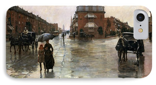 Rainy Day, Boston IPhone Case by Childe Hassam