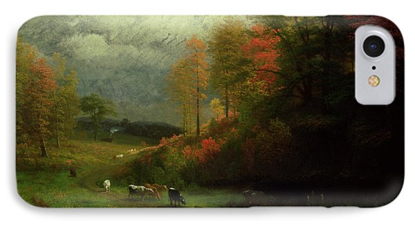 Rainy Day In Autumn IPhone Case by Albert Bierstadt