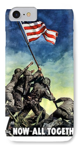 Raising The Flag On Iwo Jima Phone Case by War Is Hell Store