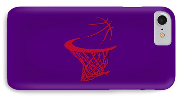 Raptors Basketball Hoop IPhone Case by Joe Hamilton