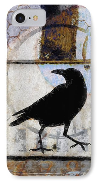 Raven Ahead Of Time IPhone Case by Carol Leigh