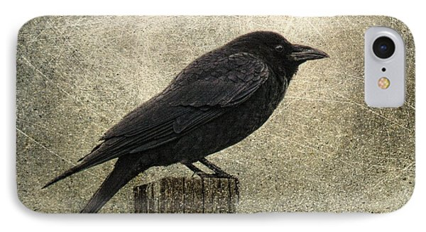 Raven IPhone Case by Elena Nosyreva