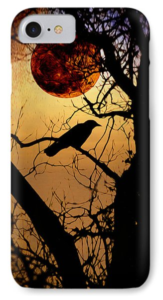 Raven Moon Phone Case by Bill Cannon