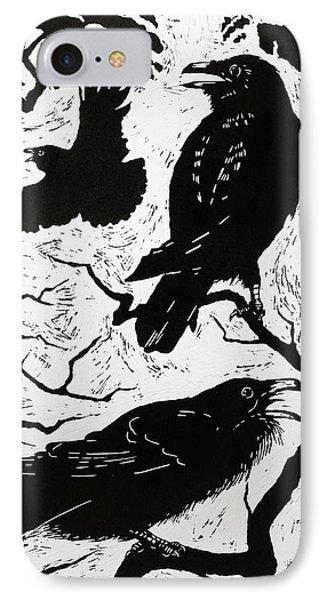 Ravens IPhone Case by Nat Morley