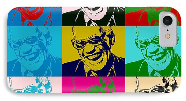 Ray Charles Pop Art Poster IPhone Case by Dan Sproul