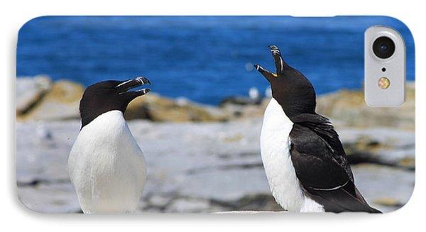 Razorbills Calling On Island IPhone 7 Case by John Burk