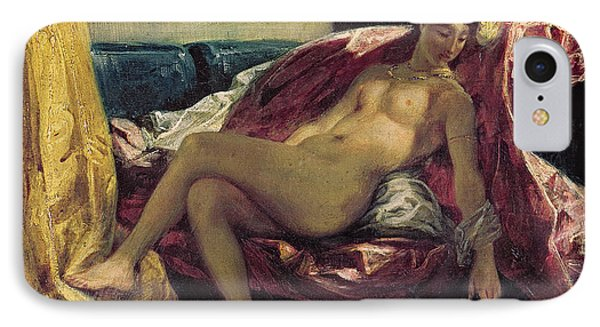 Reclining Odalisque IPhone Case by Ferdinand Victor Eugene Delacroix
