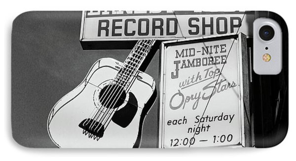 Record Shop- By Linda Woods IPhone Case by Linda Woods