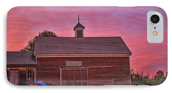 Red Barn At Sunset IPhone Case by Alana Ranney
