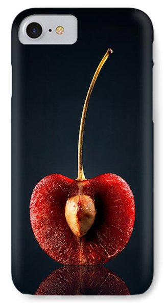 Red Cherry Still Life IPhone Case by Johan Swanepoel
